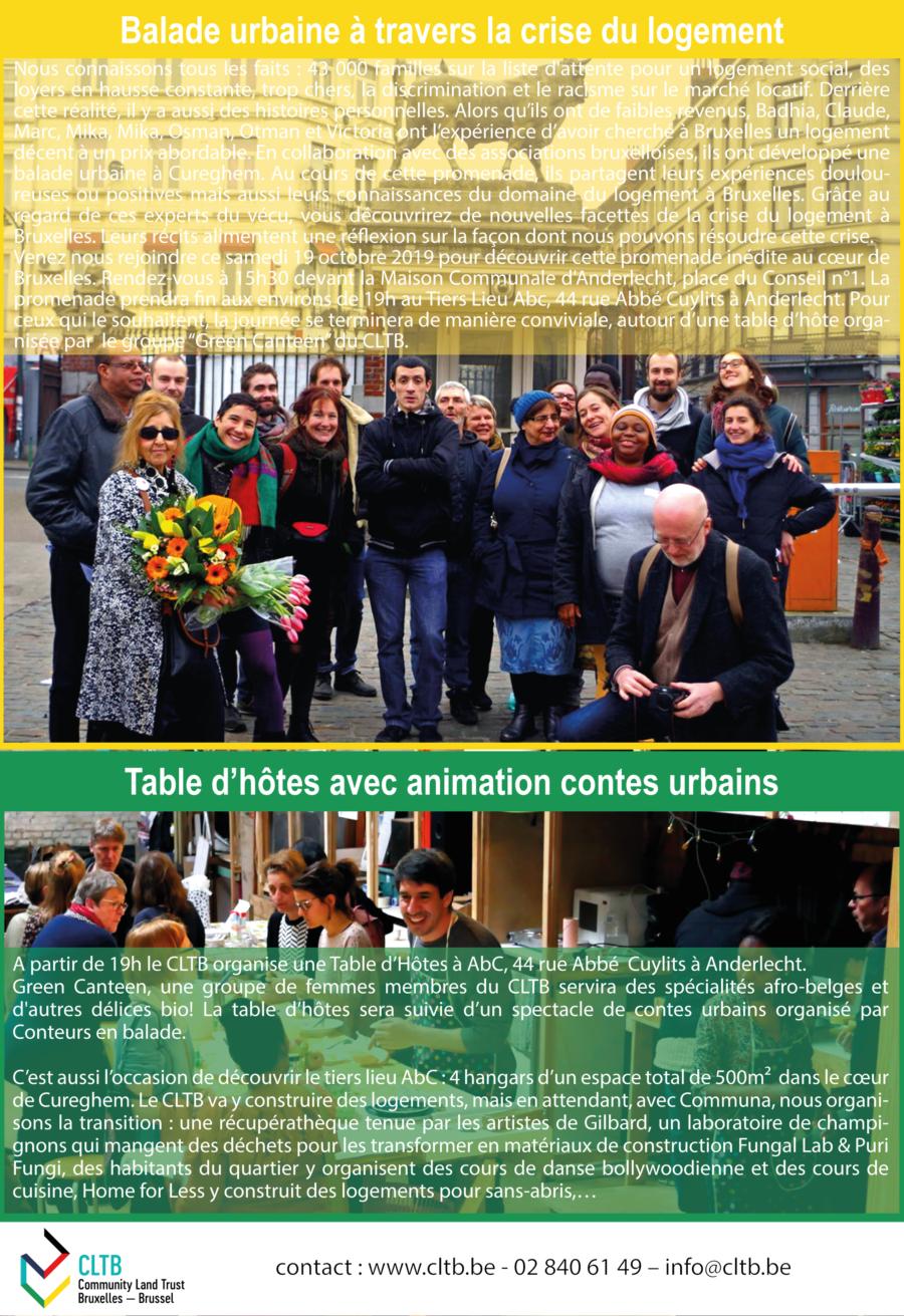Table d'hôte avec animation comtes urbains (1/3 Lieu ABC)